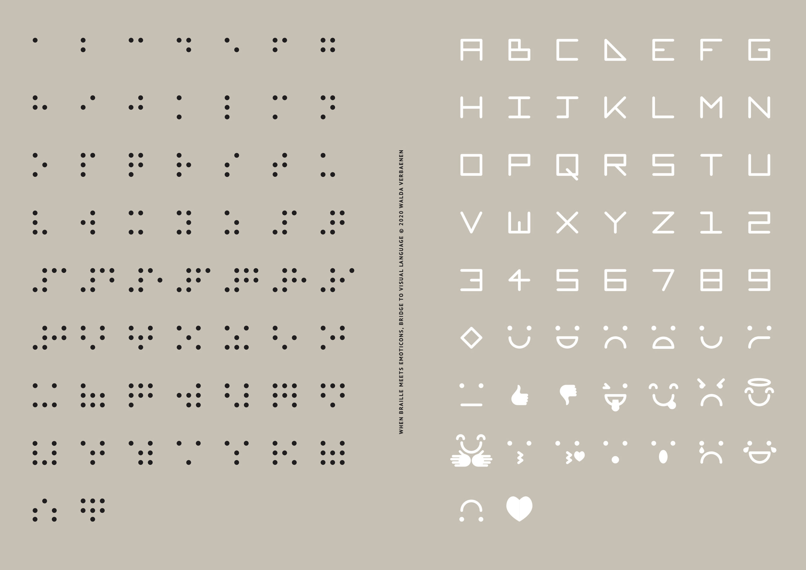 02 Braille Dingbats Poster Alphabet