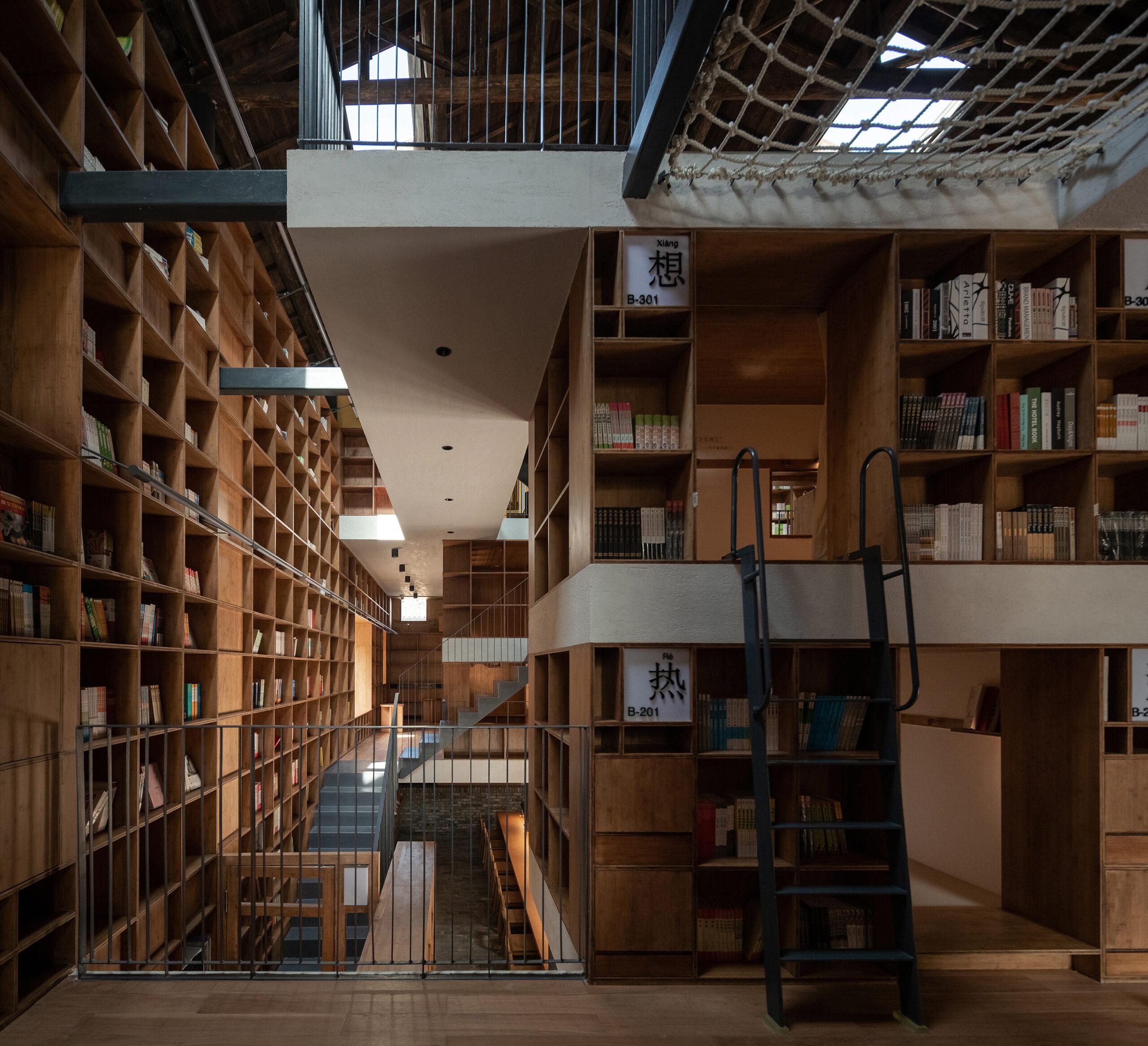 05 Platforms, Bookshelves And Capsules Ateliertaoc ©su Shengliang
