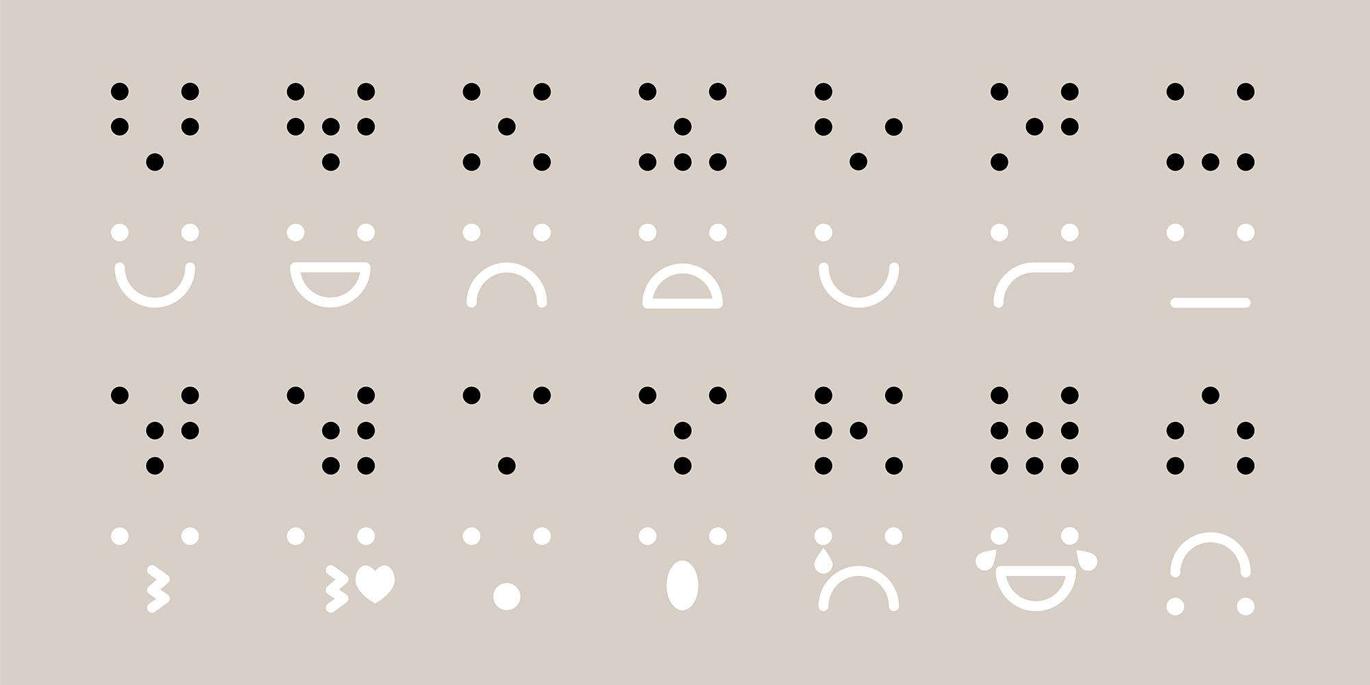 Braille Dingbats Poster Kleur 2